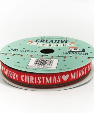 Dovecraft Christmas Ribbon - Modern DCRBB024X18-2