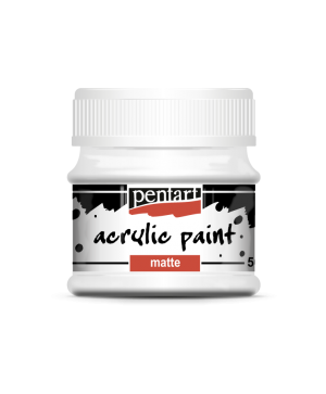 Acrylic paint matte 50 ml - titan white P35106