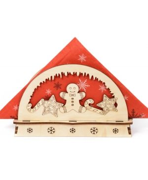 Wooden Christmas napkin holder - Christmas sweets IDEA1770