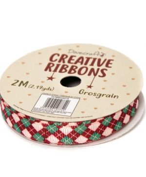 Dovecraft Christmas Ribbon - Traditional DCRBB023X18-12
