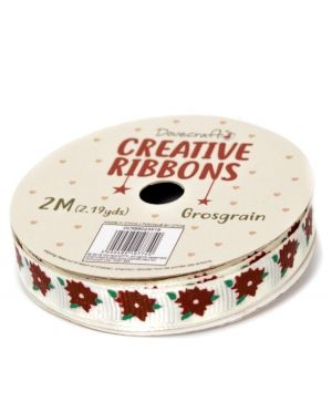 Dovecraft Christmas Ribbon - Traditional DCRBB023X18-4