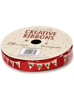 Dovecraft Christmas Ribbon - Traditional DCRBB023X18-3