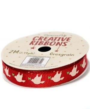 Dovecraft Christmas Ribbon - Traditional DCRBB023X18-2