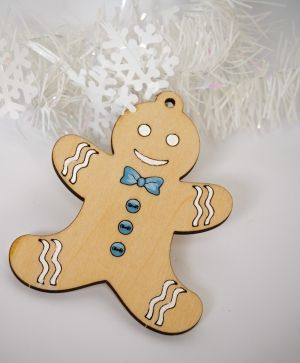 Wooden Christmas figurine - Gingerbread IDEA1757