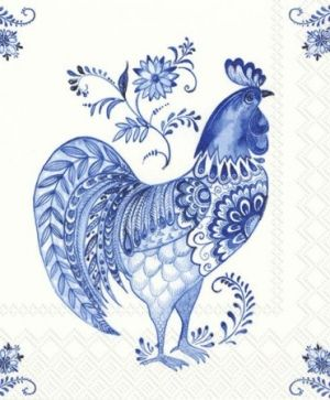 Салфетки за декупаж 33х33см, пакет 20 бр. - DECORATIVE ROOSTER L809294