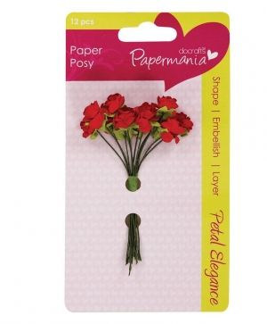 Docrafts Paper Blossoms (12pcs) Red Rose - PMA-368305
