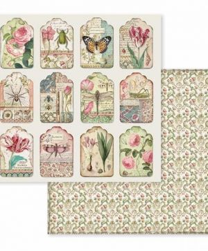 "Double face scrap paper 12""x12"" - Spring Botanic tags SBB591"