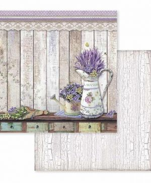 "Double face scrap paper 12""x12"" - Provence watering cans SBB596"