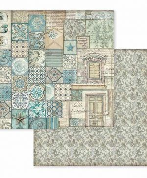 "Double face scrap paper 12""x12"" - Azulejo Patchwork SBB607"