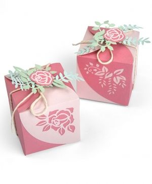 Шаблон за рязане и релеф Sizzix - Wrap Favor Box 663591