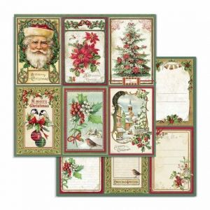 Дизайнерски картон Stamperia 30.5x30.5см - Merry Christmas cards SBB703