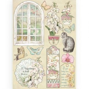 Елементи за декорация Chipboard  A5, 14.8x21 cm - Window KLSP087