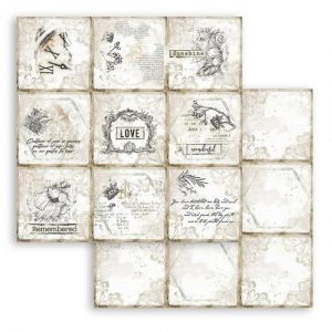 Дизайнерски картон Stamperia 30.5x30.5см - Romantic Journal cards SBB784
