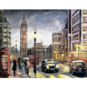 Диамантена картина 40x50cm - London in Autumn LG251e