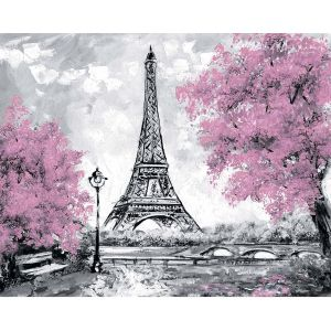 Диамантена картина 40x50cm - Eiffel Tower in Bloom LG255e