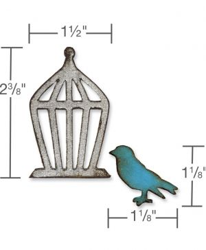 Шаблон за рязане и релеф Sizzix - Mini Bird & Cage Set 657207