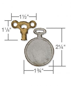 Шаблон за рязане и релеф Sizzix-Mini Clock Key & Pocket Watch 658561