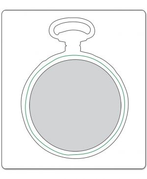 Шаблон за рязане и релеф Sizzix - Pocket Watch Frame 658571